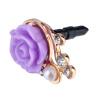 Цветы Pearl кристалл алмаза анти пыленепроницаемый колпачок Пробка для телефонов protective pearl