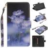 Синий цветок дизайн искусственная кожа флип кошелек карты держатель чехол для SONY Xperia M4 Aqua не прикасайся ко мне дизайн искусственная кожа флип чехол кошелек карты держатель чехол для sony xperia m4 aqua