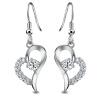 JPF 925 серебряные сердца ювелирные изделия серебряные ювелирные изделия серьги женские Корейский ювелирные изделия в форме сердца серебряные серьги ювелирные изделия серьги одна пара 5245