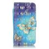 Золотые бабочки Дизайн Кожа PU откидная крышка бумажника карты держатель чехол для SAMSUNG S6