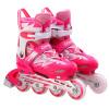 Пары (COUGAR) коньки детские роликовые коньки мужчины и женщины регулируемые роликовые коньки молнии одиночные туфли MZS835L-12 розовый L код