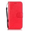 Красный цветок дизайн искусственная кожа флип кошелек карты держатель чехол для IPHONE 7 PLUS розовый цветок дизайн искусственная кожа флип кошелек карты держатель чехол для iphone 7 plus
