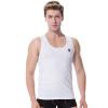 Модальные жилеты мужчины стрейч тело дышащий круглый воротник модальный хлопок поддержки жилет белый XXXL жилеты