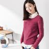 INMAN длинный рукав трикотажный свитер розовый красный S 1863302258