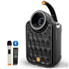 (BD) Аудио акустические системы Наружное аудио Квадратное танцевальное 5-дюймовое мобильное аудио Мини-аудио Портативный высокомощный USB-Bluetooth Беспроводной микрофон Черный BD-H0566
