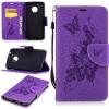 Фиолетовая бабочка с тиснением Классическая флип-обложка с функцией подставки и слотом для кредитных карт для Motorola Moto G5 фиолетовая маска на глаза бабочка uni