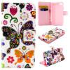 Красочные бабочки Дизайн PU кожа флип кошелек карты держатель чехол для SONY Xperia Z5 Compact/Mini
