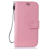 Pink Lovers and Dandelion Style Embossing Classic Flip Cover with Stand Function and Credit Card Slot for LG K10 dandelion and lovers flip leather cover for iphone 7 4 7 inch pink