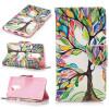 Красочные дерево Кожа PU откидная крышка бумажника карты держатель чехол для HUAWEI Honor 6X