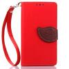 все цены на Красный Дизайн Кожа PU откидная крышка бумажника карты держатель чехол для Samsung Galaxy A5/A5000 онлайн