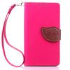 Розовый Дизайн Кожа PU откидная крышка бумажника карты держатель чехол для Samsung Galaxy J1(2016)/J120F
