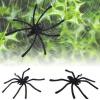 MyMei 20Pcs Halloween Plastic Black Spider Funny Joking Toys Decoration Realistic Prop creative spider paper lantern halloween supply party decoration
