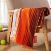 Июнь отлично (Covator) спортивные полосатые хлопковые полотенца спорт полотенце впитывающего полотенце для увеличения фитнеса 11468 Оранжевого кофе полосы 40 * 110см