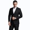 ANGELOYANG мужской костюм костюм мужской корейский бизнес случайный случайный костюм костюм костюм 608 черный L / 175B костюм