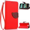 Красный Дизайн Кожа PU откидная крышка бумажника карты держатель чехол для HTC Desire 520 htc desire 650