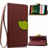 Коричневый Дизайн Кожа PU откидная крышка бумажника карты держатель чехол для Nokia Lumia 830