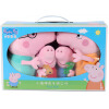 Peppa Pig Свинка Пепа Плюшевые мягкие игрушки Розовая свинка-сестра 4 шт. 19см + 30см peppa pig транспорт 01565