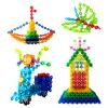 (MING TA) 800 кусков Большие хлопья снега толстые 12-цветные детские развивающие игрушки пластиковые строительные блоки, собранные детские пособия бочки danniqite развивающие игрушки большие детские кубики 12 зодиакальных знаков года рождения 1 3 6 лет 160 кусков cdn 4138