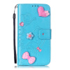 Синий цветок дизайн искусственная кожа флип кошелек карты держатель чехол для HUAWEI NEXUS 6PLUS nexus confessions volume two
