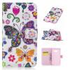 Красочные бабочки Дизайн PU кожа флип кошелек карты держатель чехол для Samsung Galaxy A5 2017 года / A520