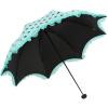 где купить Небесный зонт UPF50 + черный шелковый шелк черный пунктирный двойной кружевной кружевной три раза гриб солнечный зонт зонт синий зеленый 30046ELCJ по лучшей цене