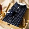 Maier Rand (Марланд) Мужская Тонкий плед голубой клетчатой рубашке 3XL 1255 цена 2016