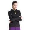 Carring (ткань) быстросохнущая футболка пары наружная влажность потоотделение дышащий воротник с длинными рукавами одежда одежда CT13301 женский черный XL код