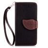 Черный Дизайн Кожа PU откидная крышка бумажника карты держатель чехол для Apple iPhone 7 цветочный дизайн кожа pu откидная крышка бумажника карты держатель чехол для iphone 7g