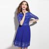 Vintage Women Dress Fashion Half Sleeve Hollow Out Mini Dresses Spring Women Clothing