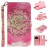 Розовый цветок дизайн искусственная кожа флип кошелек карты держатель чехол для LG K7 синий цветок дизайн искусственная кожа флип кошелек карты держатель чехол для lg k4