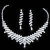 Ожерелье Свадебные выпускного вечера Rhinestone ювелирных изделий Кристалл и серьги набор