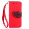 Красный Дизайн Кожа PU откидная крышка бумажника карты держатель чехол для Apple iPhone 7 Plus олень дизайн кожа pu откидная крышка бумажника карты держатель чехол для iphone 7 plus