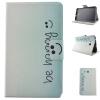 Butterfly Smile Style Classic Flip Cover с функцией подставки и слотом для кредитных карт для Samsung Galaxy Tab 3 Lite T110