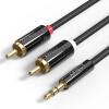 Affco (AIFFECT) П1-BR10 3,5 мм одна точка два аудио кабель 3.5 революция 2RCA аудио революция 3.5 проводки аудио конвертер для двойного лотоса и черной линией 1 м аристократия и революция