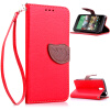 Красный Дизайн Кожа PU откидная крышка бумажника карты держатель чехол для HTC Desire 610 htc desire 650
