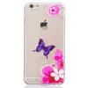 Розовый шаблон бабочки Мягкий тонкий резиновый корпус силиконового геля TPU Чехол для IPHONE 6 Plus/6S Plus iface mall for iphone 6 plus 6s plus glossy pc non slip tpu hybrid shell pink