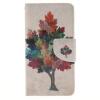 Красочные дерево Дизайн PU кожа флип кошелек карты держатель чехол для SAMSUNG GALAXY J1 2016/J120F комплект rose white s