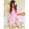 сексуальный Пижама женщины обаятельный Дамское белье ночная рубашка Ночная рубашка Банный халат + T thong ночная рубашка kai love
