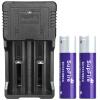 Фонарик (supfire) smart USB двойной слот зарядное устройство + два 18650 плюс пластина фиолетовый аккумулятор фонарик посвященный перезаряжаемый зарядное устройство 26650 и т.д. для AC26-ZB2