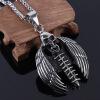Череп форма кулон ювелирные изделия оптом нержавеющей стали Мужской поп аксессуары подарок ожерелье мужские
