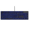 SteelSeries Apex M400 Blue Edition Game Machine Keyboard Black steelseries apex m400 blue edition game machine keyboard black