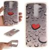 Сердце образный капли воды шаблон мягкой тонкой ТПУ резиновый силиконовый гель Дело Чехол для LG K7 сердце образный капли воды шаблон мягкой тонкой тпу резиновый силиконовый гель дело чехол для lenovo k5 note