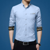 lucassa мужские рубашки воротник рубашки мужские простой случайный с длинными рукавами рубашки мужские рубашки 1730 светло-синий L оранжевые рубашки мужские