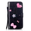 Черный цветочный дизайн Кожа PU откидная крышка бумажника карты держатель чехол для LG G3 цветочный дизайн кожа pu откидная крышка бумажника карты держатель чехол для iphone 7g