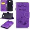 Фиолетовый тисненый тисненый классический флип-чехол с функцией подставки и слотом для кредитных карт для Huawei Y5 II смартфоны huawei y5 2017 grey