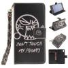 Не прикасайся ко мне Дизайн искусственная кожа флип чехол кошелек карты держатель чехол для SONY Xperia Z2 комплектующие и запчасти для ноутбуков sony tablet z2 sgp511 512 541 z1