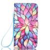 Красочные цветы дизайн Кожа PU откидная крышка карточки бумажника держатель случая для LG K8 голубые глаза дизайн кожа pu откидная крышка карточки бумажника держатель случая для lg k8