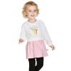 Barabara (BALABALA) для малышей новорожденных девочек костюм детей с длинными рукавами платье из двух частей 28041170107 Белый 80 платье mini balabala 52262140621