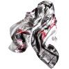 Lan Shiyu LANSHIYU W0851 шелковый шелковый шарф шелковый подарок большой квадрат 2 цвета lan shiyu lanshiyu шелковый шарф леди корейской версии шелковый чистый цвет складки осень и зима полотенце шарф темно серый