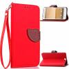 Красный Дизайн Кожа PU откидная крышка бумажника карты держатель чехол для HTC One A9 стоимость